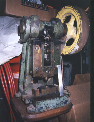 Small Punch Press for Sale http://users.netonecom.net/~swordman/MachiningPage.htm